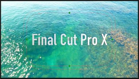 Final Cut Pro X 文字にエフェクトをかける方法